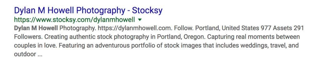 google search engine snippet